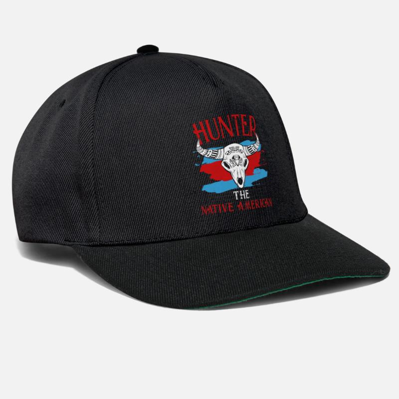 Native American Caps & Hats - Native American - Snapback Cap black/black