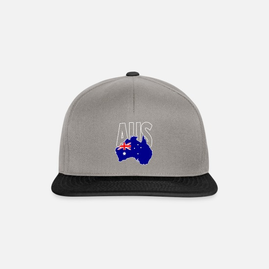 Map Caps & Hats - Australia - Snapback Cap graphite/black