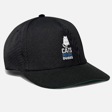 Cat Cats before dudes kitten gift idea - Snapback Cap