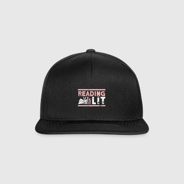 Reading is Lit Reading is great school gift - Snapback Cap