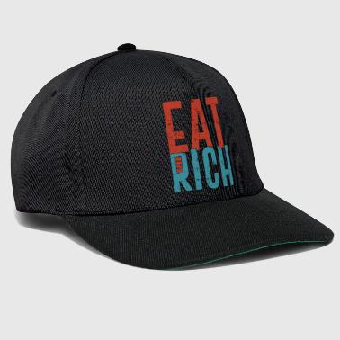Eat the rich funny communism saying gift - Snapback Cap