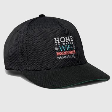 Home is Where Wifi connects automatically Wlan - Snapback Cap