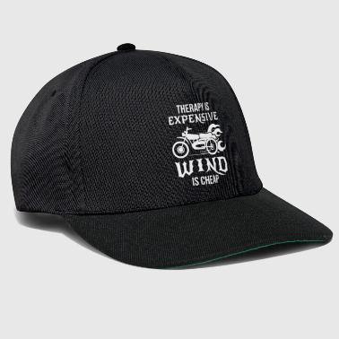 Therapy is expensive wind is cheap Biker Bike Gift - Snapback Cap