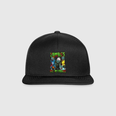 Halloween Zombie Basketball Soccer Gift - Snapback Cap