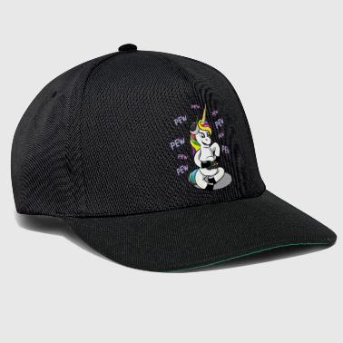 Pew Gamer Gaming Unicorn Video Games Nerd Gift - Snapback Cap