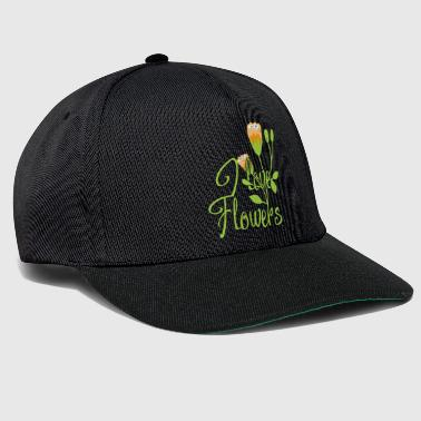 I love flowers summer gift saying child - Snapback Cap