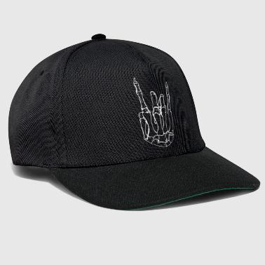 Rocker hand as a skeleton - Snapback Cap