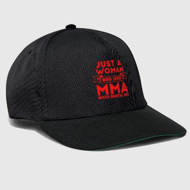 Just a woman who loves MMA cage fighter martial arts - Snapback Cap