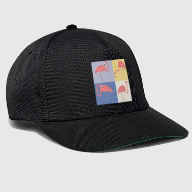 Pop art flamingo - Czapka typu snapback