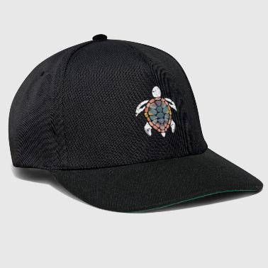 Turtle polygon gave fantasy christmas - Snapback-caps