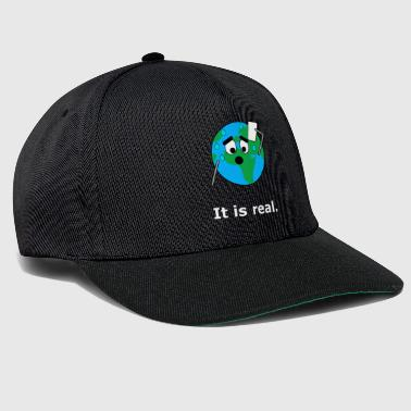 Global Het is echt. Earth Global Warming Global Warming - Snapback cap