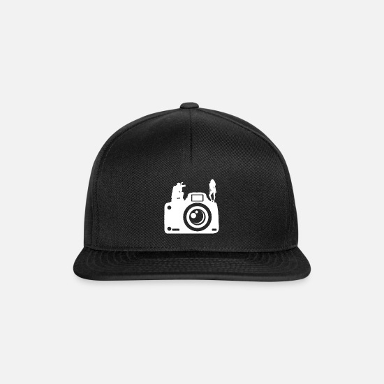 Birthday Caps & Hats - Christmas photography lens camera SLR - Snapback Cap black/black