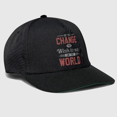 Dubaï Change World Peace Change - Casquette snapback