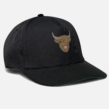 Highland Beef Cow Scottish Highland Cattle Highland Cattle - Snapback Cap