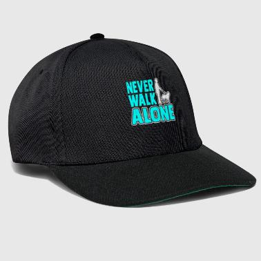 Rescue Never Walk Alone Dog Lover Gift - Snapback Cap