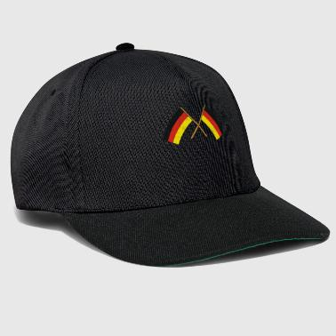 Vacation two crossed german flags flag german - Snapback Cap
