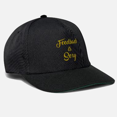 Audio Funny Feedback T-shirts Designs Le commentaire est sexy - Casquette snapback