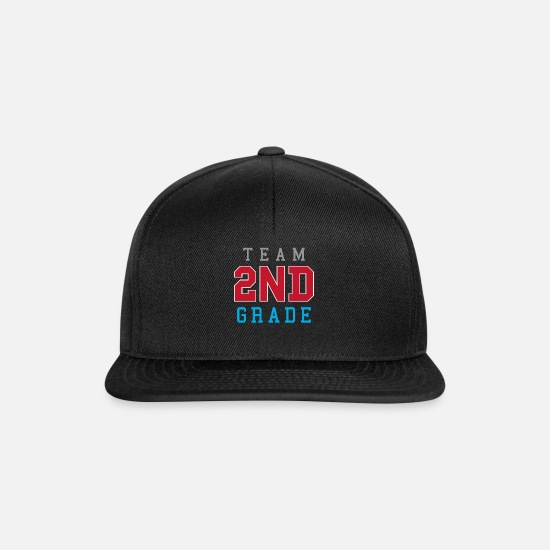 School Caps & Hats - Team 2nd Grade - Snapback Cap black/black