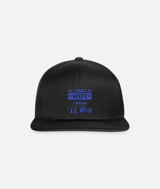 Wedding Day Caps & Hats - wife - Snapback Cap black/black