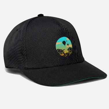 Hot Air Balloon Hot air balloon gift sunset - Snapback Cap