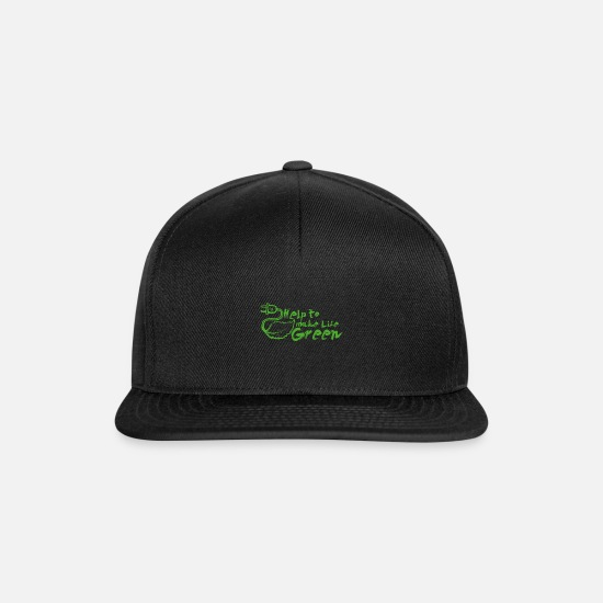 Wind Energy Caps & Hats - Help make life green. Energy transition - Snapback Cap black/black