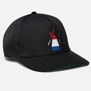 Wind Turbine Netherlands Holland windmill national colors - Snapback Cap