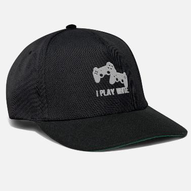 Real Life I Play White Game Gamer Gaming Gift - Snapback Cap