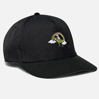 Care Unicorn Riding Dinosaur - Snapback Cap