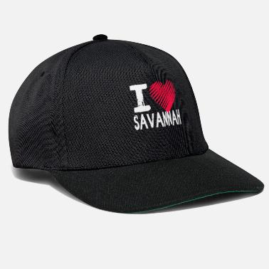 Georgia I Love Savannah Georgia Gift - Snapback cap
