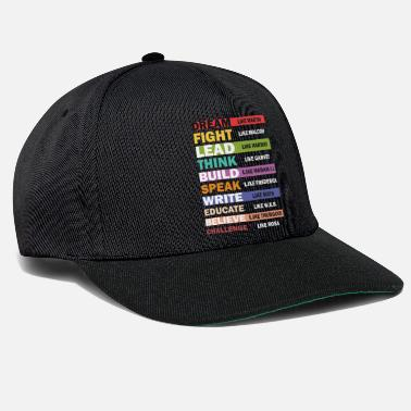 Black Lives Matter Black Lives Matter - Conception de texte Black Leaders - Casquette snapback