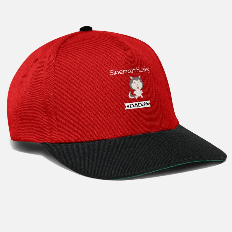 dedd8c93aa1 Siberian Husky Daddy Snapback Cap