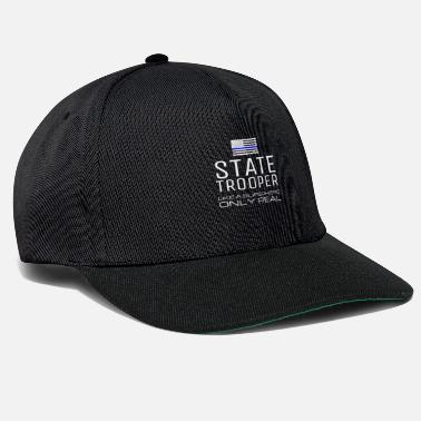 Police-officer State Trooper Like A Superhero Only Real Funny - Snapback Cap
