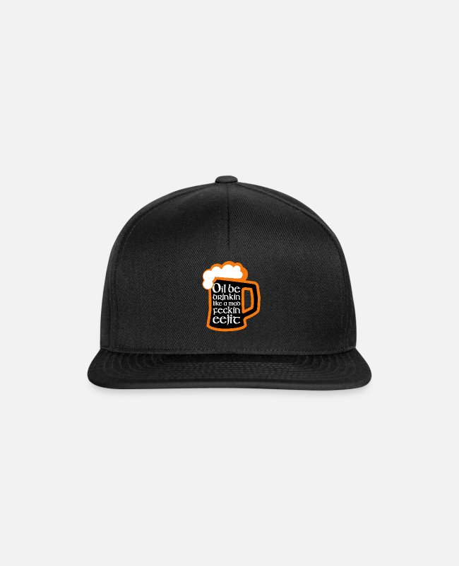 St Patricks Day Caps & Hats - Irish St Patrick's Day Drunk Celebration - Snapback Cap black/black
