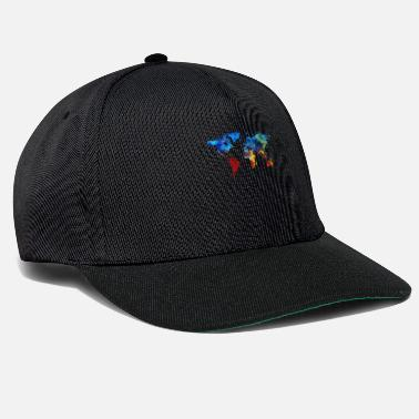 Full Of Color world, peace, love, freedom, harmony, gift, color - Snapback Cap