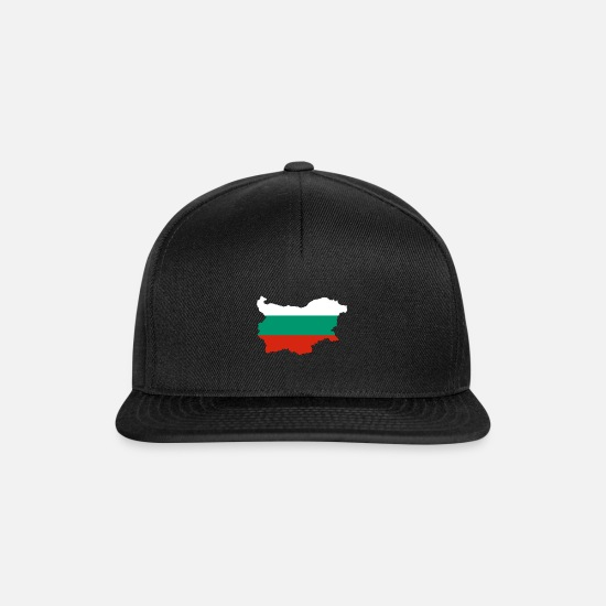National Team Caps & Hats - Bulgaria - Bulgaria - България - Bŭlgariya - Snapback Cap black/black