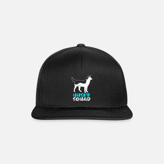 Dog Friend Caps & Hats - Husky - Snapback Cap black/black
