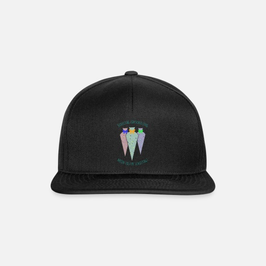 Birthday Caps & Hats - First day of school - Snapback Cap black/black