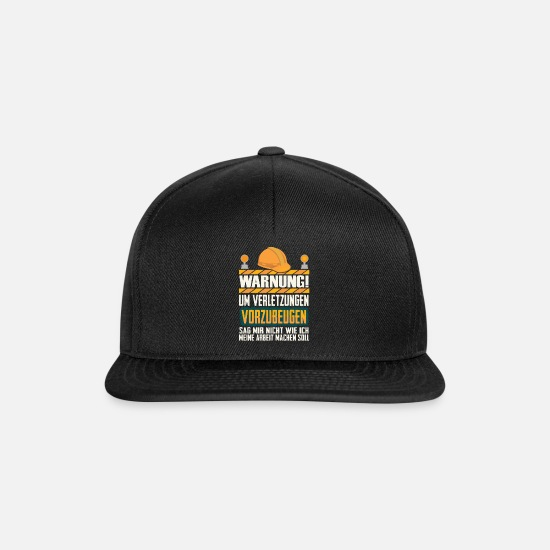 Building Site Caps & Hats - Construction site construction worker construction - Snapback Cap black/black