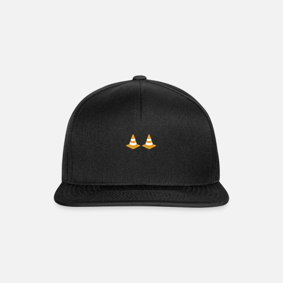 Building Site Caps & Hats - Construction site Construction Builder Construction worker Craftsman - Snapback Cap black/black