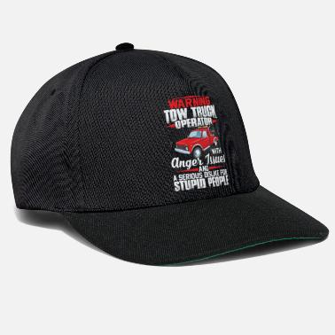 Tow Truck Operator With Anger Issues And Dislike - Snapback Cap