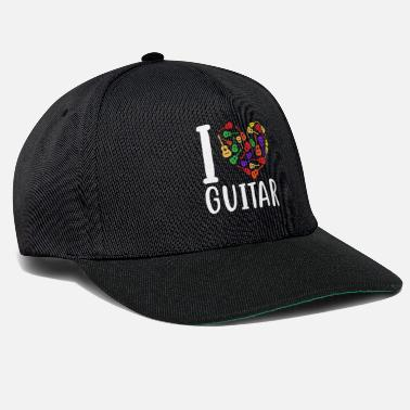 Lovestruck I Love Guitar Funny Guitarist Heart - Cappello snapback