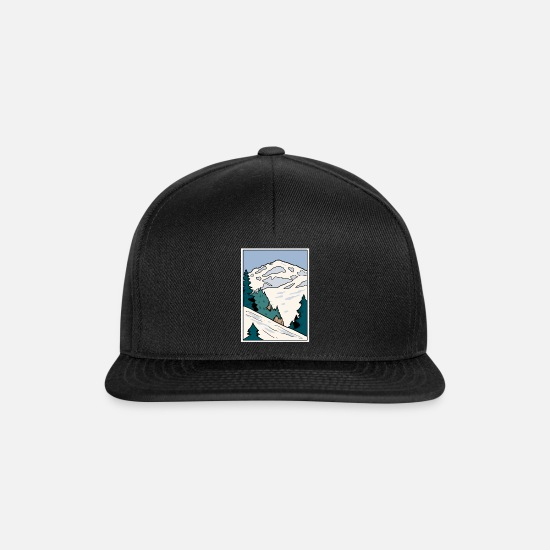 Travel Caps & Hats - Alps - Snapback Cap black/black