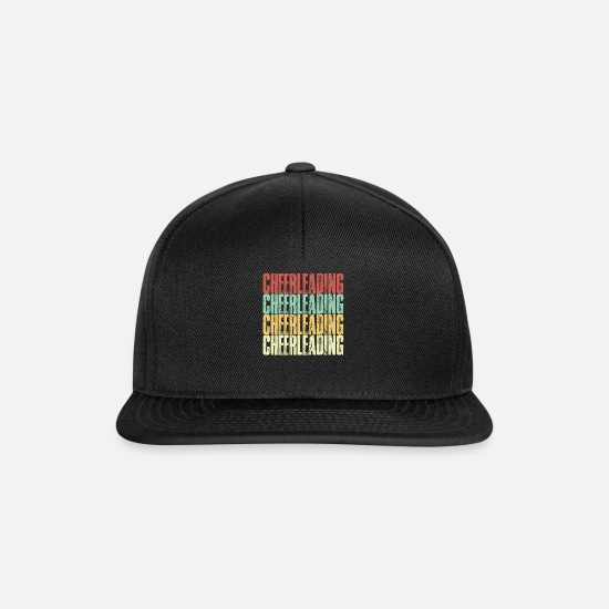 Birthday Caps & Hats - Cheerleading cheerleader guard guards dance carnival - Snapback Cap black/black
