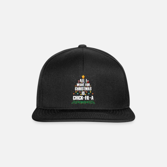 Alligator Caps & Hats - All I Want For Christmas Is Chick-fil-a Funny - Snapback Cap black/black