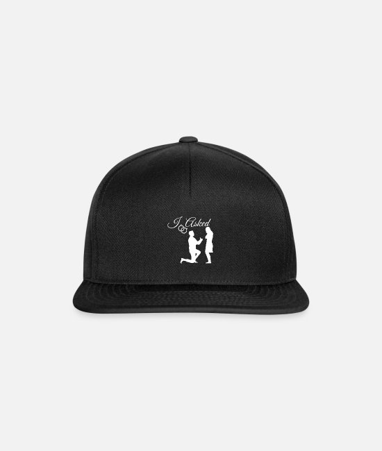 Engagement Caps & Hats - engagement - Snapback Cap black/black