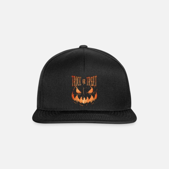 Trick Or Treat Caps & Hats - Halloween sweet and sour - Snapback Cap black/black