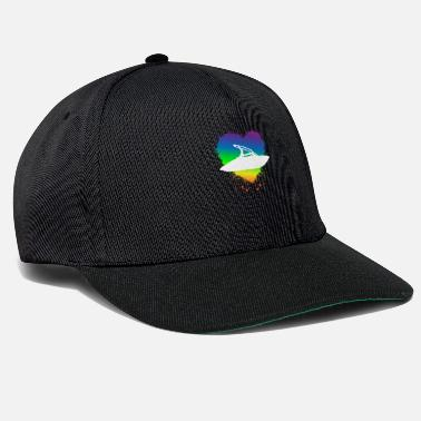 Transport Gay Motorboat Owner - Homosexual Rainbow Flag Edit - Snapback Cap