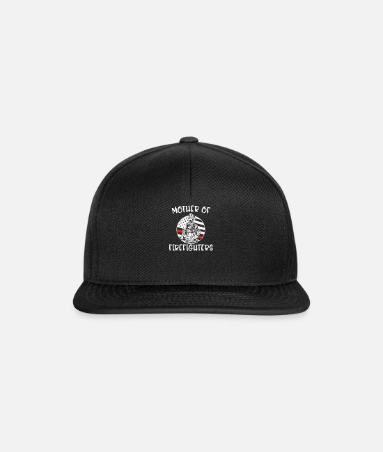 Mother Caps & Hats - Mother Of Firefighters Firefighter - Snapback Cap black/black