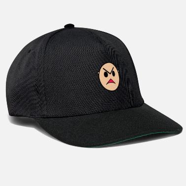 Funny Cartoon Face Angry Expression - Snapback Cap