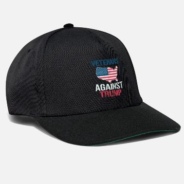 Trump Veterans Against Donald Trump Anti-Trump US Flag - Snapback Cap